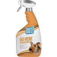 OUT! Go Here Attractant Indoor & Outdoor Dog Training Spray, 32-oz bottle