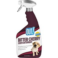 OUT! Bitter Cherry Dog Chew Deterrent Training Spray, 32-oz bottle