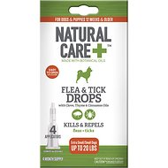 Natural Care Spot-On Extra Small & Small Dog Flea & Tick Drops, 4 treatments