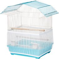 Sheer Guard Bird Cage Skirt, Aqua, Small