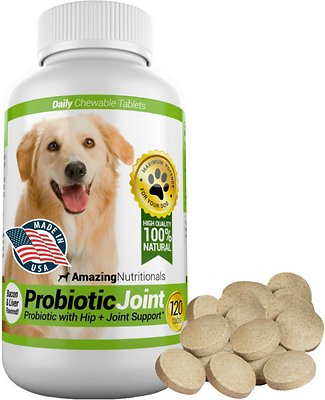 6. Amazing Nutritionals Probiotics Joint & Hip Support Daily Dog Supplement