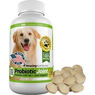Amazing Nutritionals Probiotic Joint & Hip Support Daily Dog Supplement, 120-count