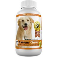 Amazing Nutritionals Turmeric Chews Daily Dog Supplement, 120 count