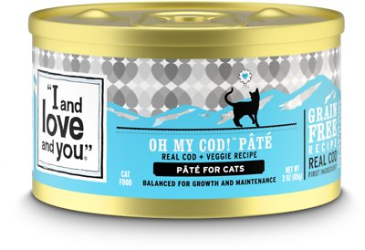 2. I and Love and You Oh My Cod! Pate Grain-Free Canned Cat Food