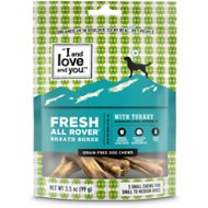 I and Love and You Fresh All Rover Breath Bones Grain-Free Dental Dog Treats, Small, 3.5 oz-bag