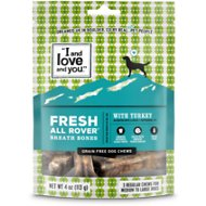 I and Love and You Fresh All Rover Breath Bones Grain-Free Dental Dog Treats, Regular, 4-oz bag
