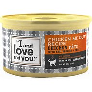 I and Love and You Chicken Me Out Pate Grain-Free Canned Cat Food, 3-oz, case of 12