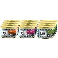 I and Love and You Chicky-Da-Lish, Salmon Chanted Evening & Tuna Fintastic Stew Variety Pack Canned Cat Food, 3-oz, case of 12