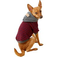 Dobaz Striped Dog Hoodie, Red, Large