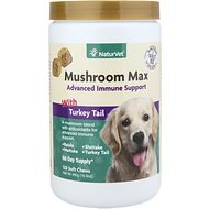 NaturVet Mushroom Max Advanced Immune Support With Turkey Tail Dog & Cat Soft Chews, 120 count