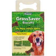 NaturVet GrassSaver Biscuits Peanut Butter Flavored Dog Treats, 22.2-oz box
