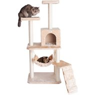 Armarkat GleePet 57-inch Cat Tree with Ramp, Beige