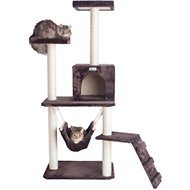 Armarkat GleePet 57-in Faux Fur Cat Tree & Condo, Brown