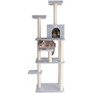 Armarkat 74-inch GleePet Cat Tree, Silver Gray