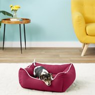 Dog Gone Smart Repelz-It Lounger Dog & Cat Bed, Berry, Small