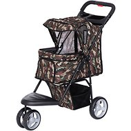 IRIS Dog & Cat Folding Stroller, 3-wheel, Camo