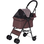 IRIS Dog & Cat Folding Stroller, Brown