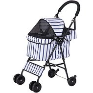IRIS Dog & Cat Folding Stroller, Striped