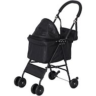 IRIS Dog & Cat Folding Stroller, Black