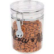IRIS Acrylic Meow Cat Treat Jar, 24-oz jar, Black