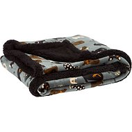 Ultra Paws My Blankie! Waggers Dog Blanket, Blue/Black, Large