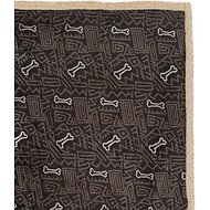 Ultra Paws My Blankie! BoneApart Dog Blanket, Black/Tan, Small