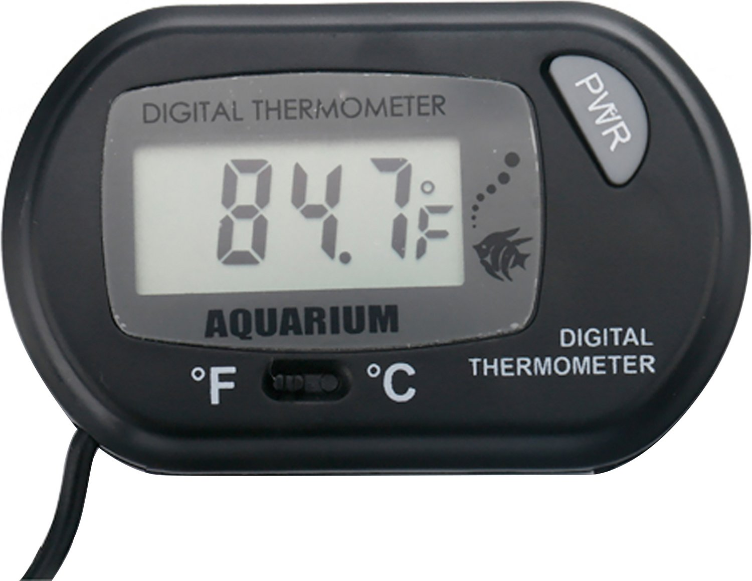Hde lcd digital aquarium thermometer for Aquarium thermometer
