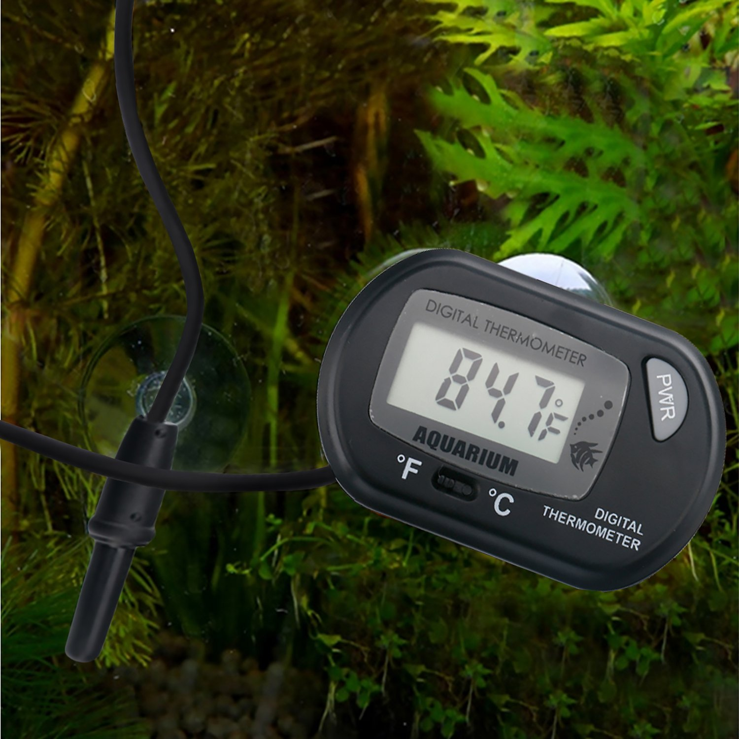 Hde Lcd Digital Aquarium Thermometer Chewy Com