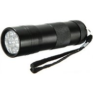 HDE Brushed Aluminum 395nm 12 LED UV Flashlight