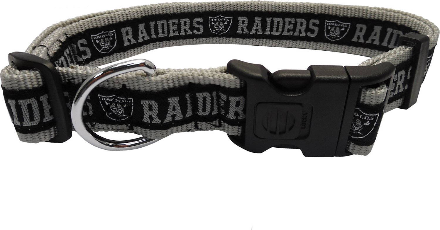 a49fe39c7dd Pets First NFL Dog Collar, Oakland Raiders, X-Large - Chewy.com