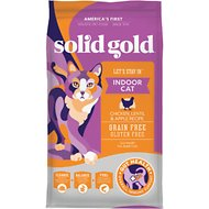 Solid Gold Let's Stay In Indoor Chicken, Lentil & Apple Recipe Adult Grain-Free Dry Cat Food, 12-lb bag