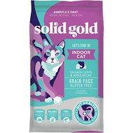 Solid Gold Let's Stay In Indoor Salmon, Lentil & Apple Recipe Adult Grain-Free Dry Cat Food, 3-lb bag
