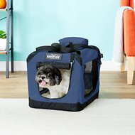 EliteField 3-Door Folding Soft-Sided Dog Crate, Blue, 20-in