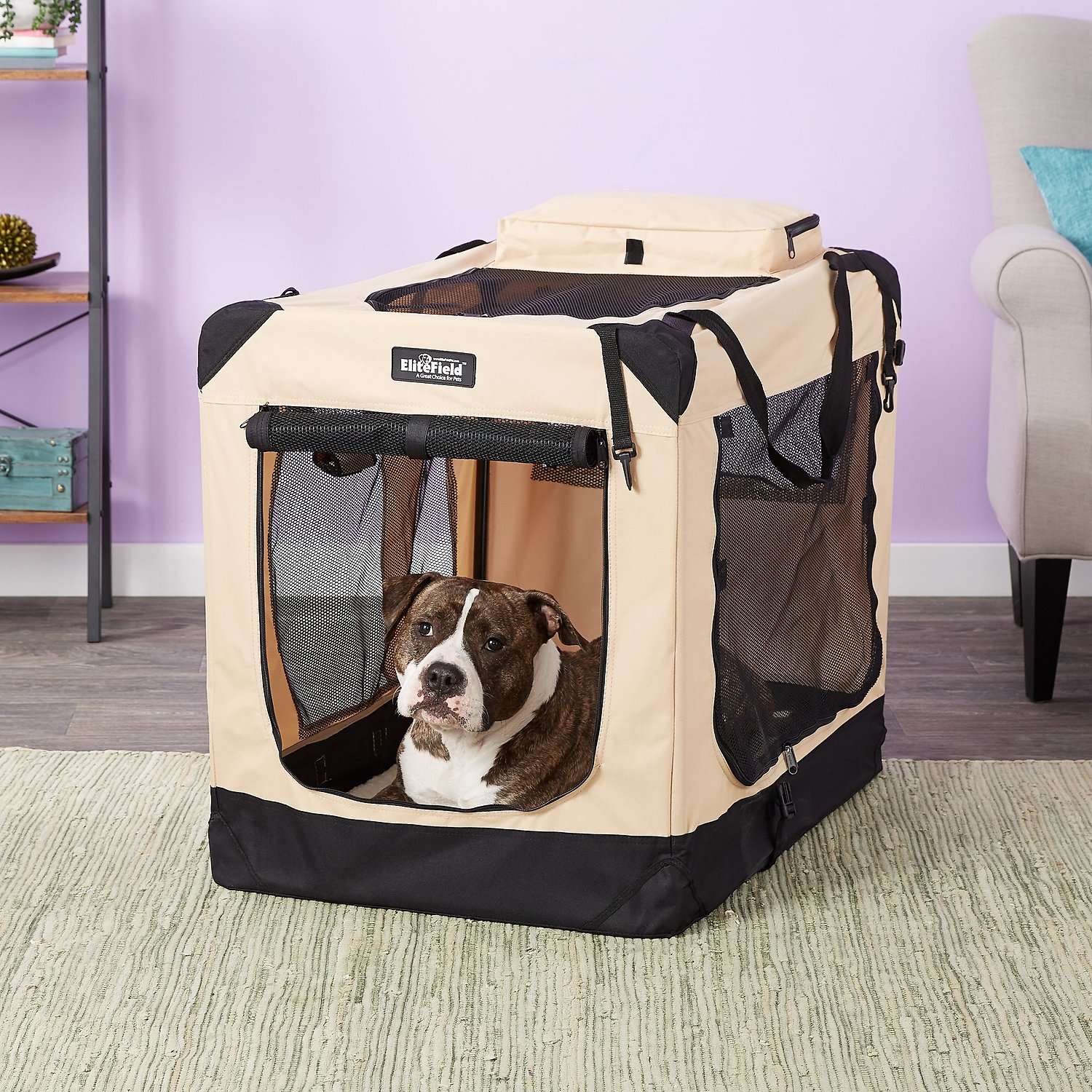 elitefield 3 door folding soft sided dog crate 36 inch With soft sided folding dog crates