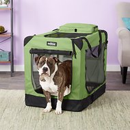 EliteField 3-Door Folding Soft-Sided Dog Crate, Sage Green, 36-in