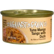 Against the Grain Tuna Mango Tango with Duck Dinner Grain-Free Wet Cat Food, 2.8-oz, case of 24