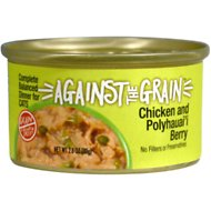 Against the Grain Chicken & Polyhauai'i Berry Dinner Grain-Free Wet Cat Food, 2.8-oz, case of 24