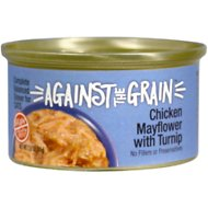 Against the Grain Chicken Mayflower & Turnip Dinner Grain-Free Wet Cat Food, 2.8-oz, case of 24