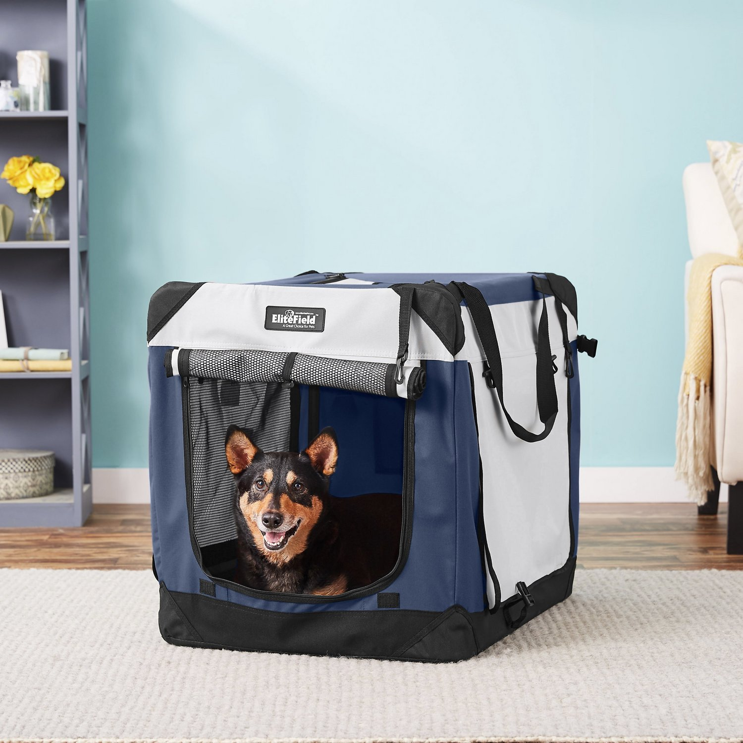 EliteField 4-Door Collapsible Soft-Sided Dog Crate