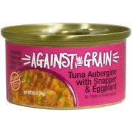 Against the Grain Tuna Aubergine with Snapper & Eggplant Dinner Grain-Free Wet Cat Food, 2.8-oz, case of 24