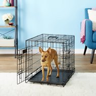 EliteField 3-Door Folding Dog Crate with Divider, 24-in