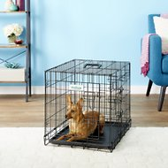 EliteField 3-Door Folding Dog Crate with Divider, 30-in