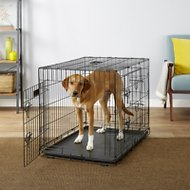 EliteField 3-Door Folding Dog Crate with Divider, 36-in