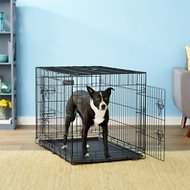 EliteField 3-Door Folding Dog Crate with Divider, 42-in