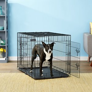 EliteField 3-Door Collapsible Wire Dog Crate with Divider