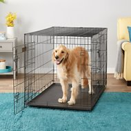 EliteField 3-Door Folding Dog Crate with Divider, 48-in
