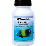 Thomas Labs Fish Mox Amoxicillin Antibacterial Fish Medication, 250 mg, 100 count