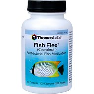 Thomas Labs Fish Flex Cephalexin Antibacterial Fish Medication, 250 mg, 100-count