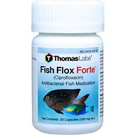 Thomas Labs Fish Flox Forte Ciprofloxacin Antibacterial Fish Medication, 500 mg, 30-count