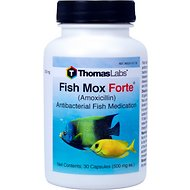 Thomas Labs Fish Mox Forte Amoxicillin Antibacterial Fish Medication, 500 mg, 30 count
